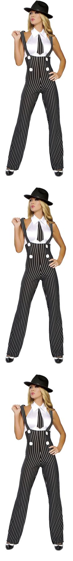Costume GangsterMobster: 2Pc Gangsta Mama - Black/White BUY IT NOW ONLY: $85.00