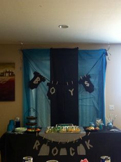 Little boys rock baby shower