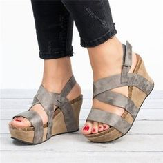 Who exactly doesn't absolutely adore lovely wedges?, find out our fabulous choice of zip-back and shoulder strap wedges for any occasion! Wedge Sandals, Shoes Sandals, Women Sandals, Sandal Wedges, Sandals Outfit, Women's Shoes, Flats, Brown Wedges, Fashion Heels