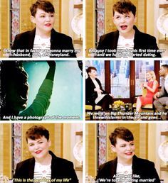 I know this isn't captainswan but this is to cute!  Ginnifer Goodwin and Josh Dallas