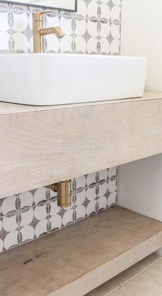 DIY modern floating bathroom vanity tutorial