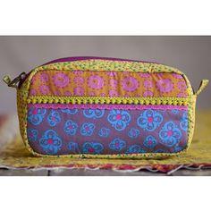 Yellow Fabric Cosmetic Bag - SM