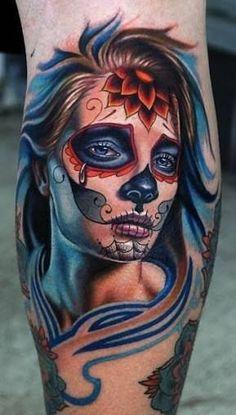 Bildergebnis für tattoo catrina