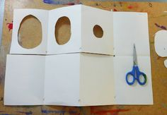 Tunnel book tutorial by Gail Bartel using paper, ruler, pencil, scissors, paint… Up Book, Book Art, Tunnel Book Tutorial, Book Crafts, Paper Crafts, Arte Pop Up, Bookbinding Tutorial, Bookbinding Ideas, Accordion Book