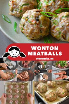 These flavor-packed Paleo and Wonton Meatballs remind me of my mom's wontons, and my family loves them, too—including even my pickiest son! (ground pork, shrimp) --MUST MAKE-- Nom Nom Paleo, Paleo Whole 30, Whole 30 Recipes, Paleo Recipes, Asian Recipes, Ethnic Recipes, Paleo Meals, Paleo Food, Diabetic Meals