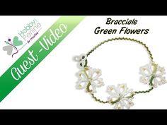 Bracciale Green Flowers | TUTORIAL - HobbyPerline.com