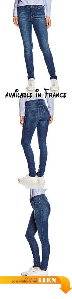 B01D36W5B4 : Crew Clothing True Jeans Femme Bleu-Blue (Mid Indigo) 44.