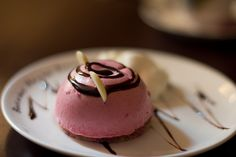 some perfect pink pastry.