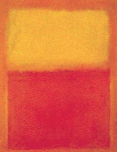 Rothko, Orange and Yellow -- Had this burning on my wall in college. Approaching 40, I'm now more of a subdued, wiser blue and white.