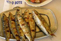 Crispy grilled sardines as served by O Bote Restaurant, Olhao, Algarve #Portugal