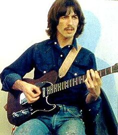George Harrison playing the ultimate Telecaster: all rosewood. tasty tone for days