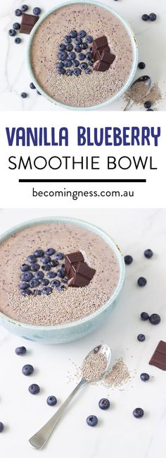 Vanilla Blueberry Smoothie Bowl - Vanessa Vickery | Becomingness | Say Yes to Your Health