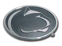 enn State University Nittany Lions Chrome Auto Emblem is for the Penn State University or NCAA, Penn State Nittany Lions sports fan and comes made of solid chrome with large Penn State Nittany Lions Mascot logo.