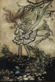 Arthur Rackham ~ They Will Certainly Mischief You ~ Peter Pan in Kensington Gardens by J. M. Barrie ~ 1906