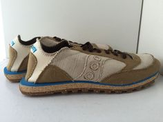 Saucony Vegan Canvas Shoes Womens Fashion De Calf Sneakers Size 10M Lace Up New #SauconyDCCalf #FashionSnickers