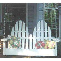 Walmart: Prairie Leisure 4-ft. Adirondack Porch Swing$280-$326 White hardwood Aspen or Cedar
