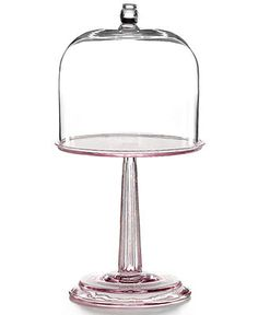 CLOSEOUT! Martha Stewart Collection Serveware, Pink Fluted Cake Stand with Dome - Serveware - Dining & Entertaining - Macy's