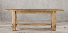 Salvaged Wood Farmhouse Rectangular Table from Restoration Hardware