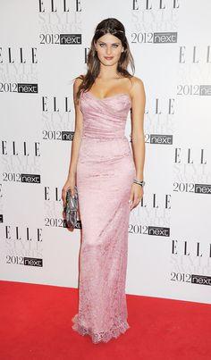 Isabeli Fontana in Dolce  Gabbana at the Elle Uk Style Awards in London