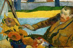 """Vincent van Gogh Painting Sun Flowers"" by Paul Gauguin"