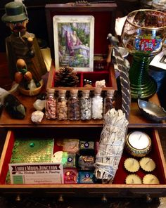 Wizards Herbal Altar Kit Witch's Vintage by ThreeMoonJunction, $88.00