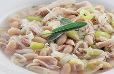 Chicken & white bean soup recipe. #healthy #recipes