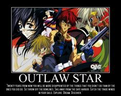 Cowboy Bebop, Outlaw Star, Escaflowne and more licensed by FUNimation Cyberpunk, Outlaw Star, Steampunk, Anime Motivational Posters, Samurai Champloo, Gundam Wing, Star Wallpaper, Kaichou Wa Maid Sama, Cowboy Bebop