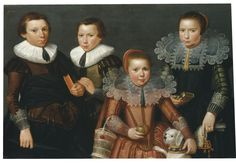 Anonymous Flemish Artist (fl. Zeeland, c.1627) circa 1627  Four Unknown Children and their Dog  - See more at: http://www.weissgallery.com/paintings/four-unknown-children-and-their-dog#sthash.UYh4V20a.dpuf
