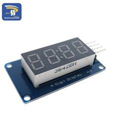 1 stks TM1637 4 Bits Digitale LED Display Module Voor arduino 7 Segment 0.36 Inch Klok ROOD Anode Buis Vier Seriële Driver Board Pack