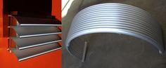 Wetterschutzgitter W57 aus Aluminium | Lüftungsgitter Alfitec, gebogene Lamellen - www.alfitec.ch Aluminium, Lighting, Home Decor, Lattices, Decoration Home, Room Decor, Lights, Home Interior Design, Lightning