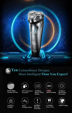 Hot FLYCO Washable Rechargeable Rotary Men's Electric Shaver Razor with Floating Heads 1 Hour Quick Charge Hair Removal Menu Design, Ad Design, Banner Design, Flyer Design, Icon Design, Caring For Colored Hair, Ad Photography, Instagram Frame, Frame Template