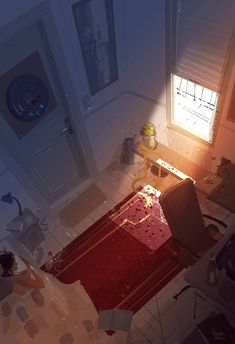 Saturday early morning. #pascalcampion  Just watching the sunlight flooding into the room.