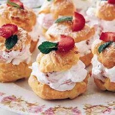Strawberry Cream Puffs