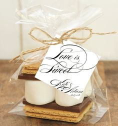 Love Is Sweet Wedding Favor Tag  party gift tag by Dantell on Etsy, $6.00