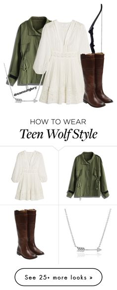 """Alison Argent from 'Teen Wolf'"" by dreamsofglory on Polyvore featuring Chicwish, Zimmermann, Frye and Tressa"