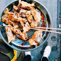 Date Night: New York - The Coveteur  LAM ZHOU 144 EAST BROADWAY, NEW YORK  tip: Stay the path and order the fried dumplings. Far and away the best you'll ever have.  tip: Utilize all of the sauces, etc. on the table.     FOOT HEAVEN 16 PELL STREET, NEW YORK  tip: I mean...