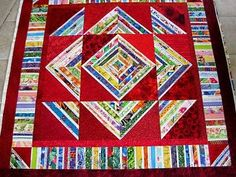 Connie's Red Selvage Quilt
