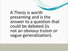 good essays with thesis