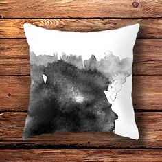 Throw Pillow Case (no pillow form included) with printed design - Spilled Ink