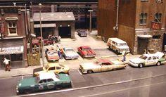 Model Car Diorama Building Ideas | Modelling realistic looking urban railroading scenes