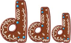 Gingerbread Lowercase Letter D