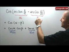 Expresión trigonométrica sin usar calculadora: Julio Rios explica cómo determinar el valor exacto de la expresión trigonométrica Cos[arcSen(8/17)-arcCos(12/13)] sin usar calculadora.