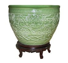 Chinese extra large green bowl