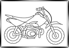 Dirt bike coloring pages - print out a free dirt bike coloring page