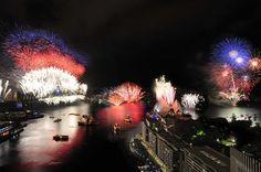 Sydney NYE fireworks 2013
