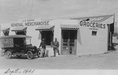 Exterior view of H. W. Zachau's General Merchandise Store on State Highway (now Foothill Boulevard) in Tujunga, California, September 1921. Tujunga was annexed to the City of Los Angeles in 1932. Little Landers Historical Society. San Fernando Valley History Digital Library.