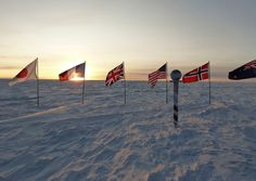The sun rises above the horizon on September 22 for the first time since March 22 at Amundsen-Scott South Pole Station on September 24, 2012. (National Science Foundation/Katie Koster)