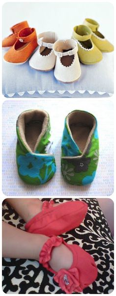 Kimono Baby Shoes: Free Pattern and How to {I'll use fleece and flannel fabrics}