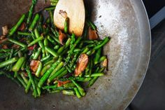 Asparagus & Shiitake Stirfry from Amanda's Ninja Kitchen
