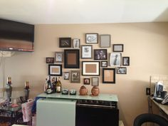 Photo cluster hanging
